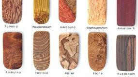 Schmuck-Holzarten