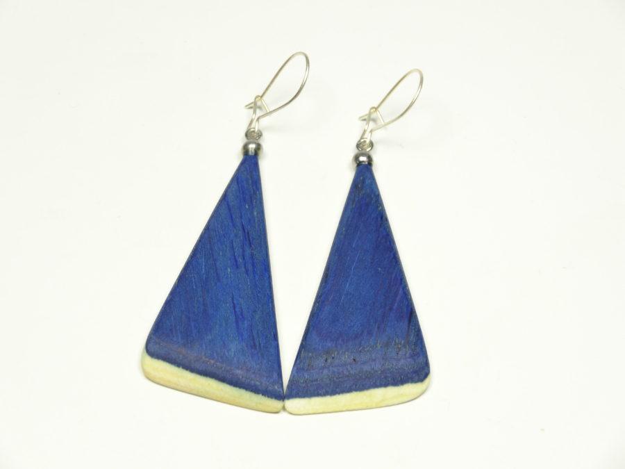 Ohrhänger blau coloriert