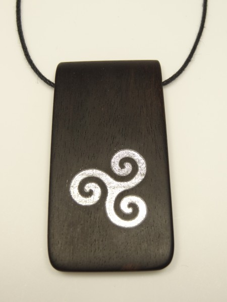 Ebenholz mit Druiden Symbol