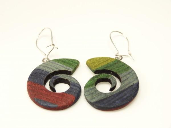 Ohrhänger Spiralen color
