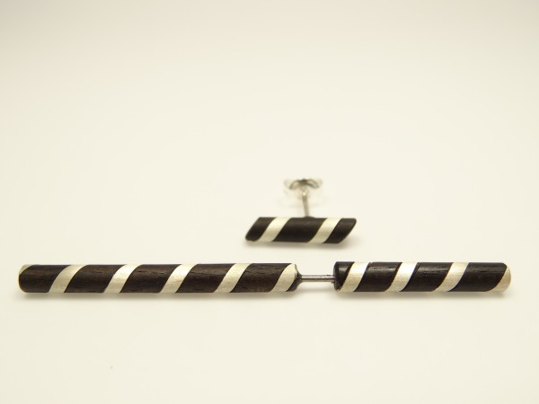 Ohrspieß Silberspirale mit Ohrstecker Silberspirale
