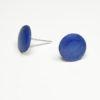 Ohrstecker blau durchgefärbt