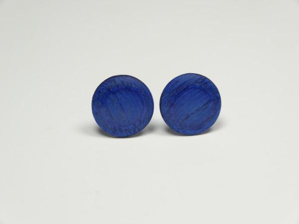 Ohrstecker durchgefärbt blau