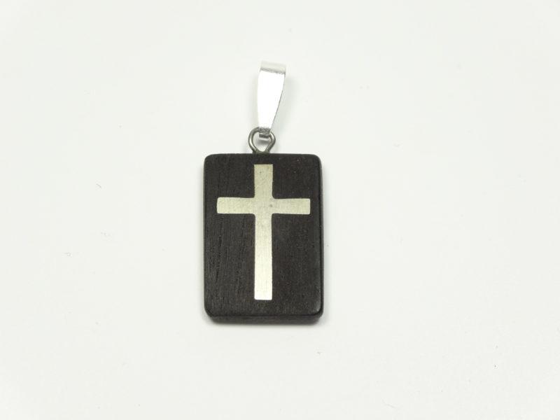 Amulett Ebenholz /Silberkreuz