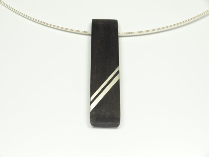 Amulett Ebenholz Silber