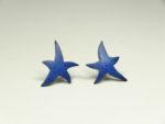 Ohrstecker Motiv Stern groß blau