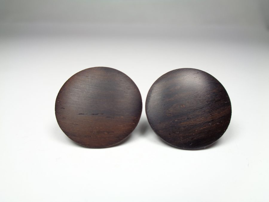 Holz Ohrstecker Palisander rund