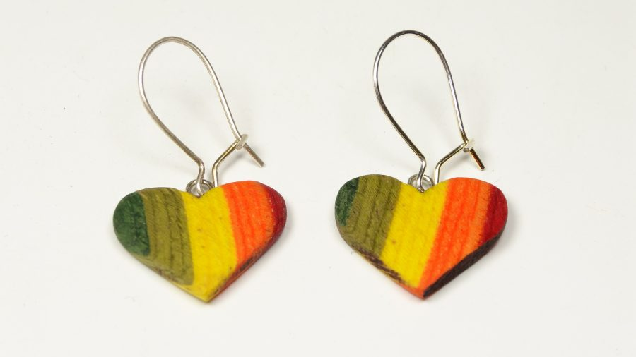 Regenbogen Herz Ohrhänger