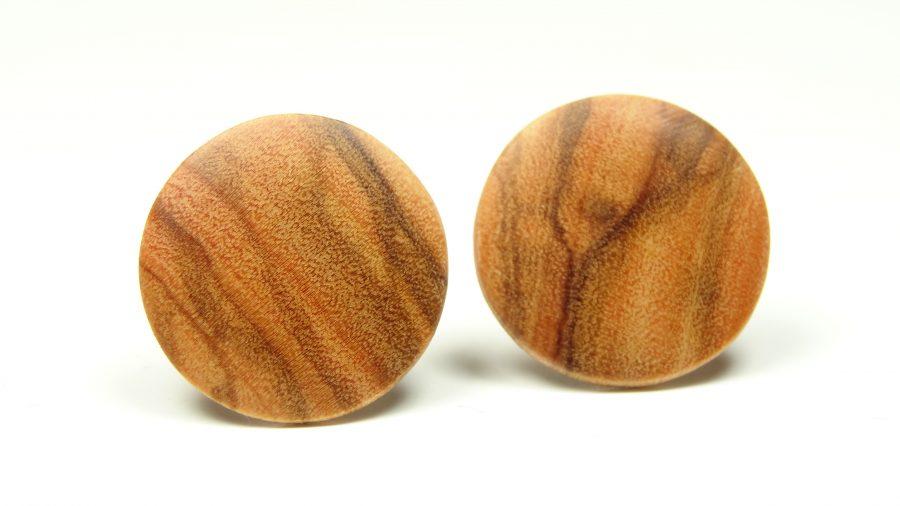 Holzohrstecker Olive rund 1,4mm