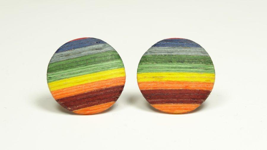 Ohrstecker color Regenbogen 1,5 cm