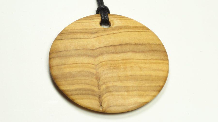 Amulett Olivenholz rund