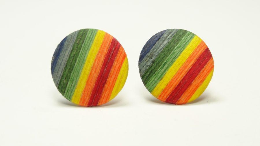 Ohrstecker color Regenbogenfarben