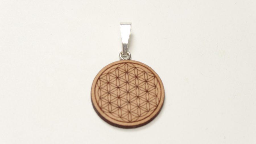 Amulett Blume des Lebens aus Holz