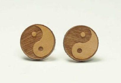 Holzohrtsecker Yin Yang 10mm