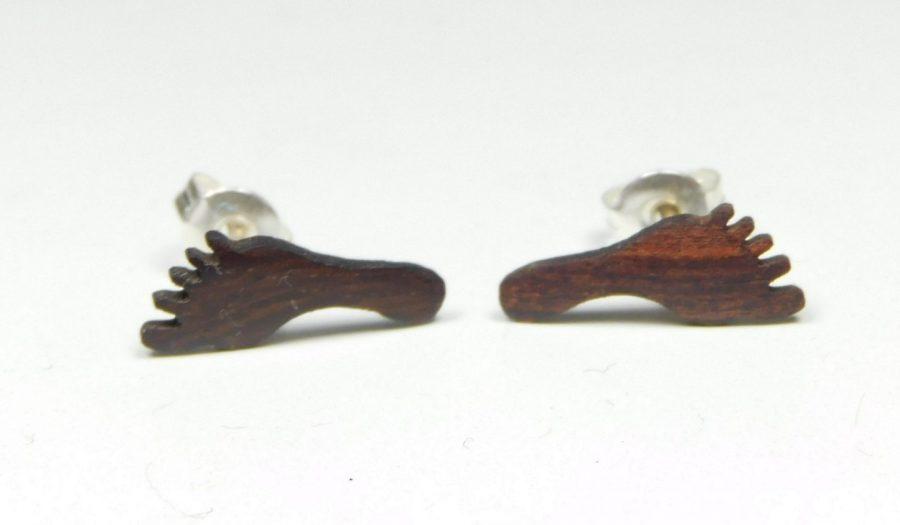 Holzohrstecker Füße