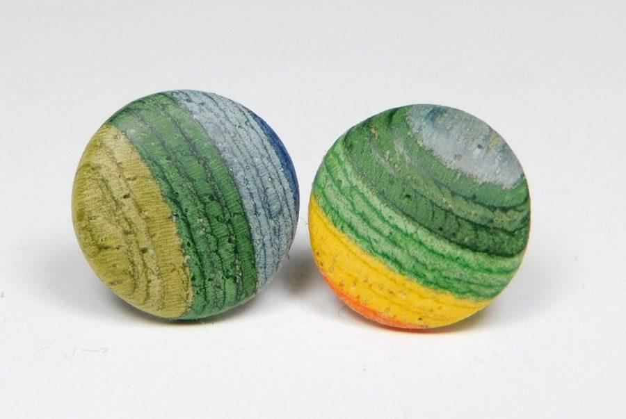 Holzohrstecker color