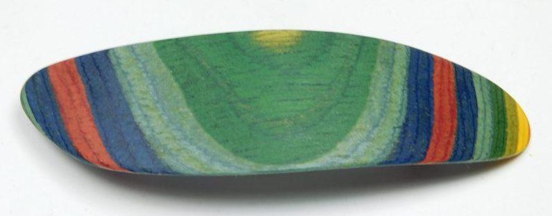 Holzhaarspange color klein