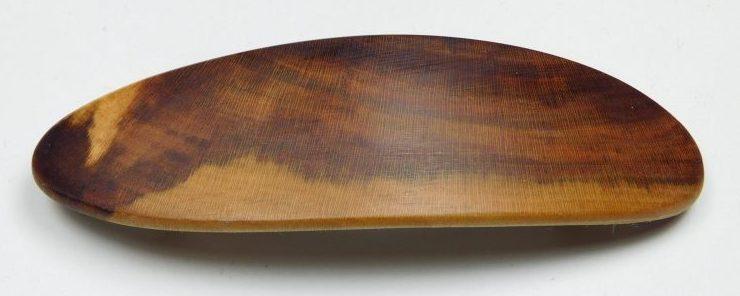 Holzhaarspange klein Pflaumenholz