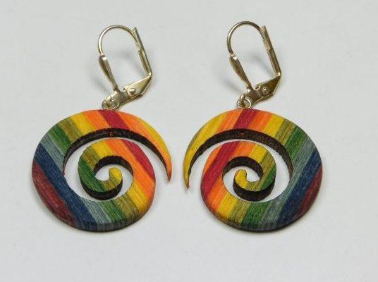 Ohrhänger color Creole Regenbogen