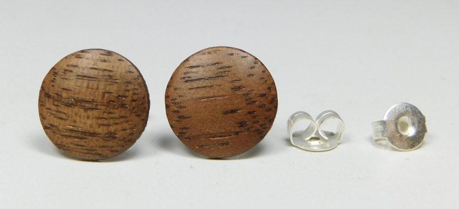 Ohrstecker Nußbaum